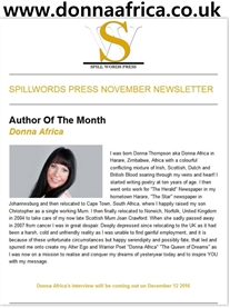 I am voted Author of the Month on Spillwords http://spillwords.com/author/donnaafrica/