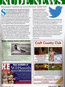 I am fgeatured in H&E Naturist Mag in their Nude News page 11 Issue Feb 2017