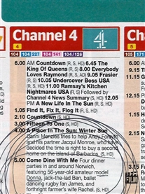 TV Choices 11-17 Feb 2017 issue I get a mention on Channel 4 Come Dine With Me 14th Feb 5pm