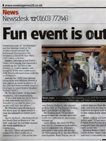 Hollywood Norwich Event that I was a guest at. Norwich evening News sept 2011