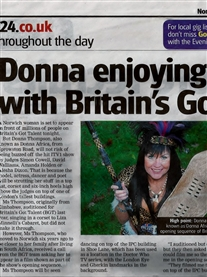 Me in Norwich Evening News 7th April 2012 Thank you Peter Walsh
