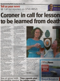 My sweet soul sister Krista tragic end to teach and save others. Thank you Peter Walsh Evening News 21st April 2012