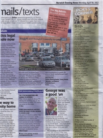 My Poem published in Norwich Evening News, thanks Pete 30th April 2012