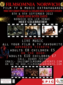 Honoured to be a guest at UEA TV & Film Extravaganza 8 & 9th Sep 2012