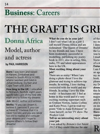 Featured in The South African newspaper 8th -14th May 2012