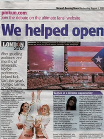 Norwich Evening News 1st Aug 2012 http://www.eveningnews24.co.uk/sport/olympics/norwich_woman_s_pride_at_taking_part_in_opening_ceremony_at_london_2012_olympics_1_1464941