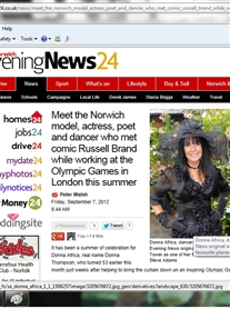 My Story featured EveningNews24 Online Website 7th Sept 2012