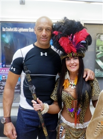 Donna Africa Warrior Woman & Actor Daz Crawford aka Blade 11 UEA Sci-fi Film Convention 12 May 2013