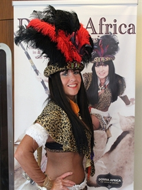 Donna Africa Famous Zulu Warrior a Guest at The Sci-fi & Film Convention UEA Norwich 12th May 2013