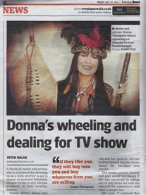 Norwich Evening News 19th July 2013 I am featured about my TV appearance on channel 4