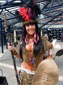 Donna Africa Famous Zulu Warrior at the Alpha Papa Film Premiere Photographer Barbara Laws photography 24th July 2013