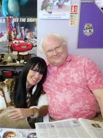 TV 6th Dr Who Colin Baker & I Donna Africa were guests at a Norwich Sci-fi Film Fantasy Event