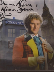 My Personalised signed Poster from TV 6th Dr Who Colin Baker