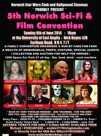 I am a Guest at Norwich Sci-fi film Event 8 June 2014