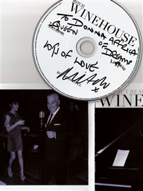 My Signed CD from Great Crooner /Singer Mitch Winehouse Feb 2015