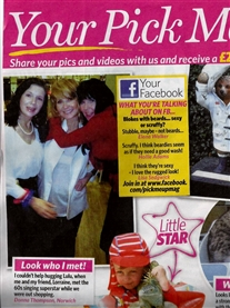 Me featured hugging Lulu in Pick Me Up Magazine 29th Jan 2015