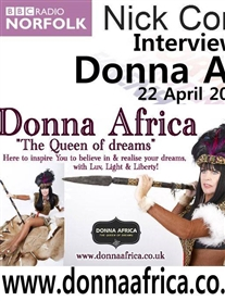 My BBC RADIO In depth interview about Donna Africa the persona & life my life in Africa  22 April 2015